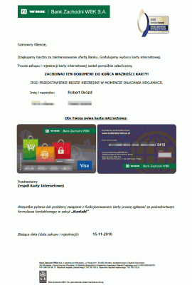 Wyglad pliku PDF zkartą internetową