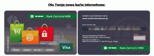Wygląd karty internetowej