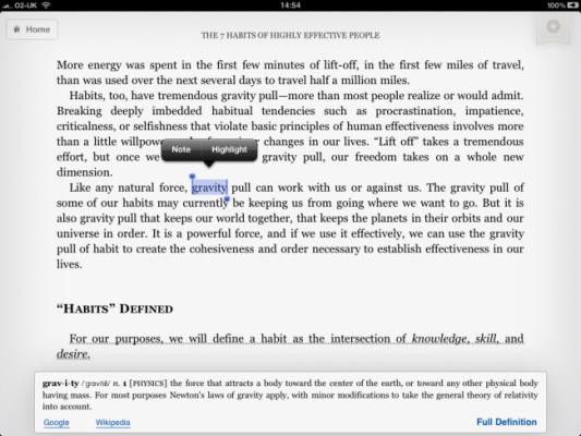Słownik Kindle na Ipadzie