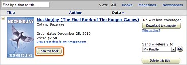 Przycisk: Lend this book