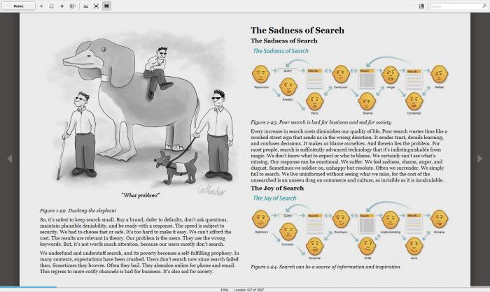 Screen z książki Search Patterns na Kindle for PC
