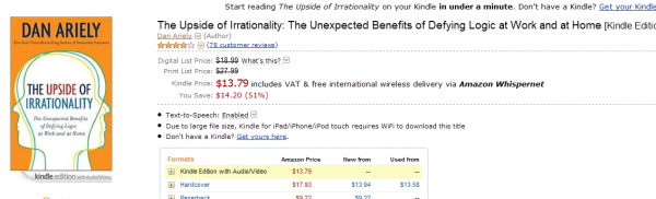 The Upside of Irrationality w Kindle Store