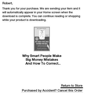 Anulowanie zamówienia książki kupionej na Kindle