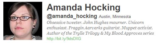 Amanda Hocking na Twitterze