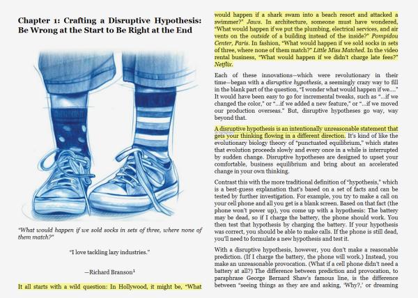 Dwie strony z książki Disrupt
