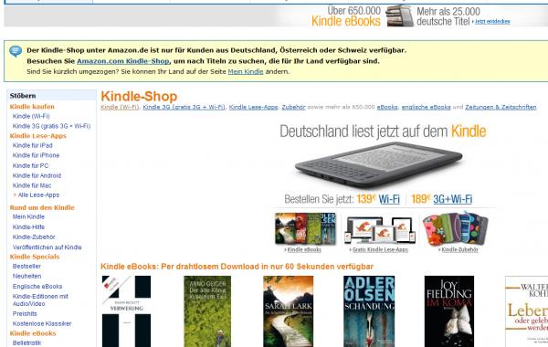 Kindle Store w Amazon.de