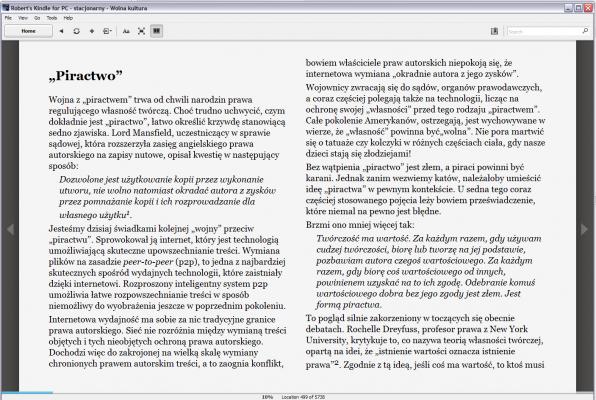 Wolna Kultura na Kindle for PC