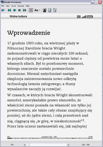 Kindle Previewer - Wolna kultura