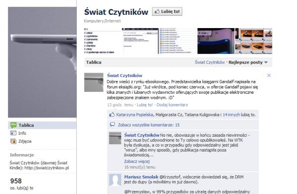 Świat Czytników na Facebooku