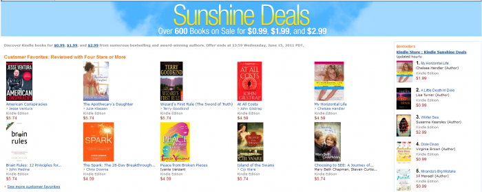 Sunshine Deals z Amazona