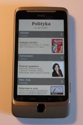 Polityka na Androidzie