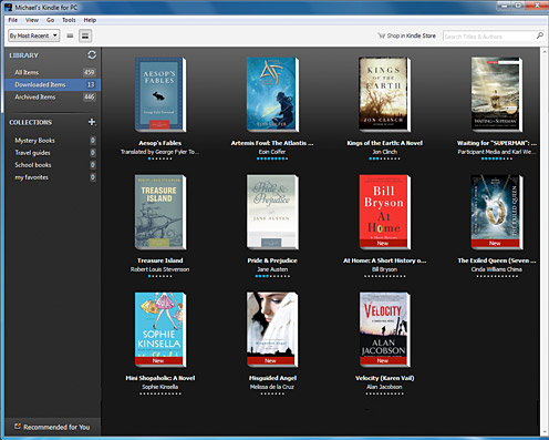 Kindle for PC - nowa strona Library