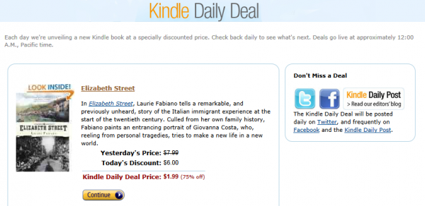 Kindle Daily Deal