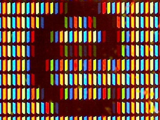 Literka e na ekranie LCD