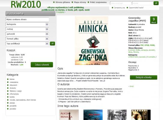 RW2010 - strona książki