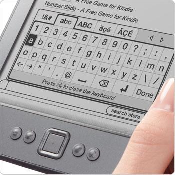 Klawiatura ekranowa w Kindle 4