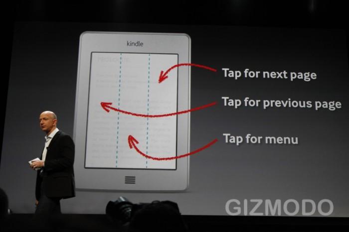 Ekran dotykowy w Kindle Touch