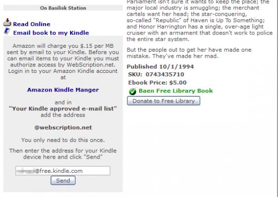 W formularzu Email book tomy Kindle podajemy adres Kindle
