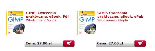 Książka oGimpie EPUB: 29zł, PDF 29zł
