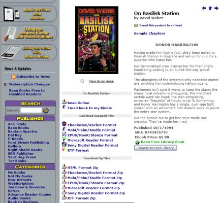 On Basilisk Station - strona książki