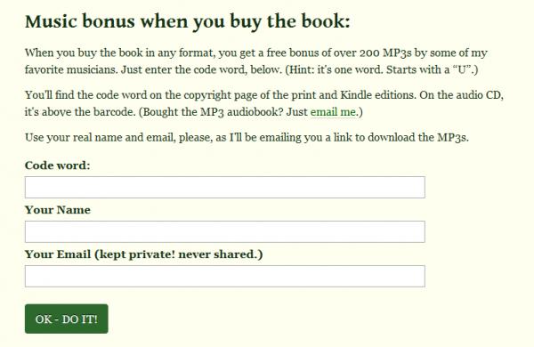 Anything You Want - formularz pobierania MP3