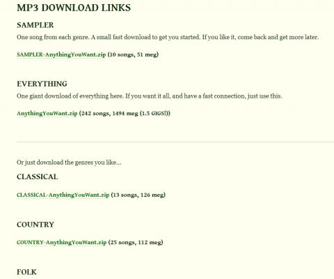 Anything You Want - strona z listą MP3