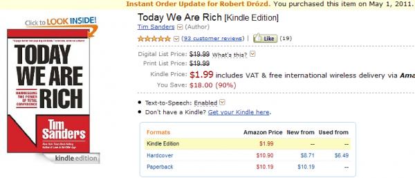 Today We Are Rich - na stronach Amazon