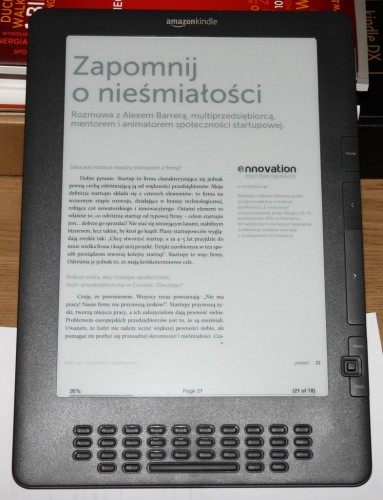 Magazyn Proseed naKindle DX