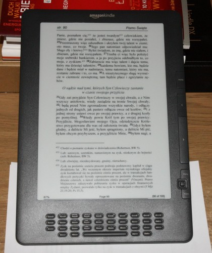 Nowy Testament w PDF na Kindle DX