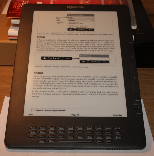 Książka O'Reilly na Kindle DX