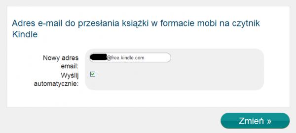 Ustawienia wysyłki na Kindle