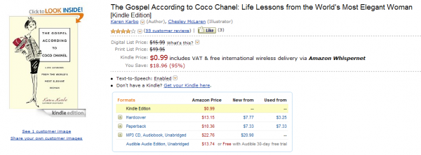 Gospel According to Coco Chanel w Kindle Store