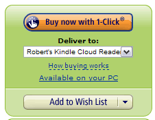 Wysyłanie na Cloud Reader - lista wyboru pod przyciskiem kupowania na Amazonie