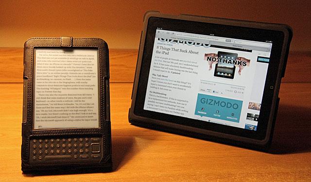 Kindle iIpad nabiurku