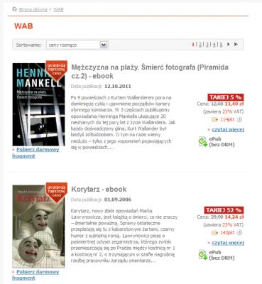 Książki wydawnictwa WAB wNexto