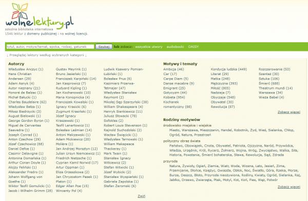 Strona główna Wolnych Lektur