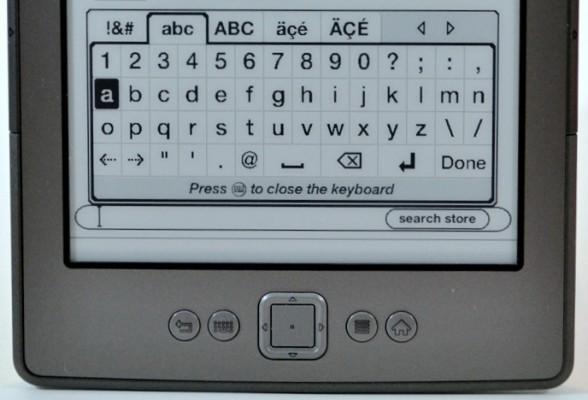 Klawiatura ekranowa na Kindle Classic