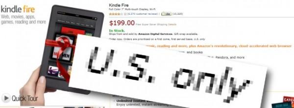 Kindle Fire - tylko w Stanach