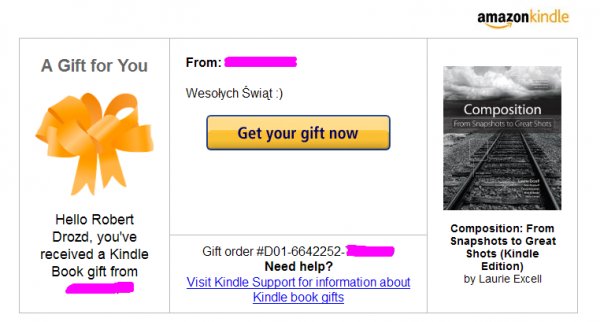 Kindle Gift - Composition