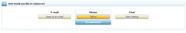 3 formy kontaktu: mail, telefon, czat