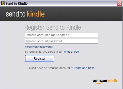 Send To Kindle - rejestracja