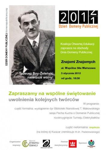 Zaproszenie naDzień Domeny Publicznej 2012