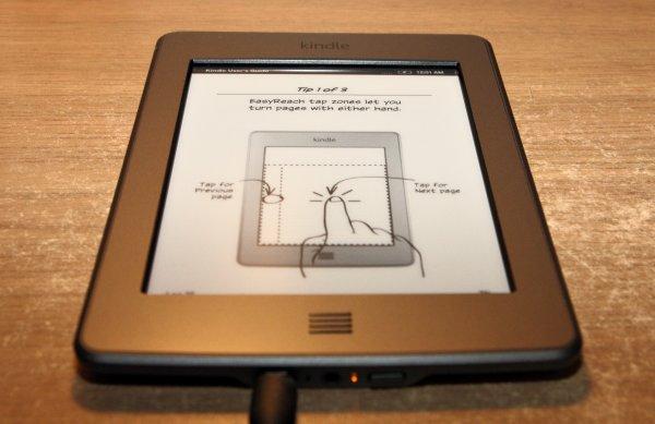 Kindle Touch - instrukcja obsługi ekranu dotykowego