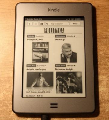 Polityka na Kindle Touch