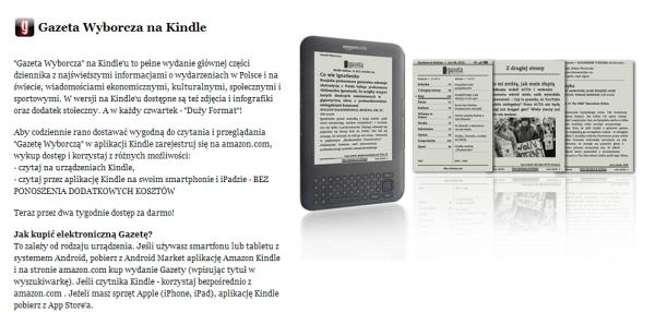 Gazeta Wyborcza na Kindle