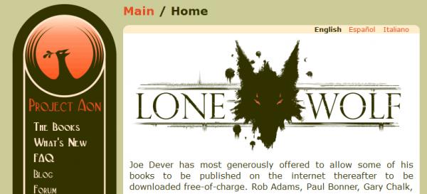 Lonewolf - strona z ebookami