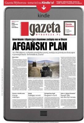 Okładka Gazety Wyborczej w Kindle