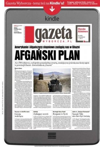 Okładka Gazety Wyborczej wKindle