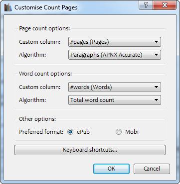 Ustawienia wtyczki Count Pages