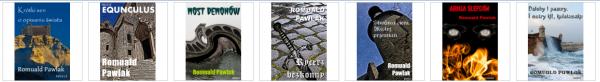 Opowiadania Romualda Pawlaka - okładki